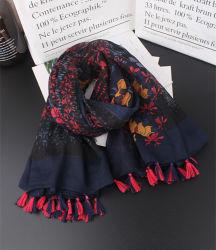 De vrouwen vormen Foulard van de Omslag van de Leeswijzers van de Geluiddemper van het Af:drukken van de Flora van de Sjaal van de Zomer van de Lente de Uitstekende Vierkante Sjaal van Femme