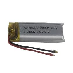 맞춤형 3.7V 240mAh 리튬 폴리머 배터리 701235 충전식 리튬 이온 전자 제품용 RoHS CE Un38.3이 포함된 배터리 팩