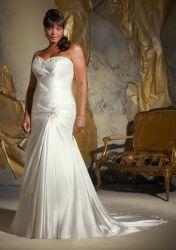 Стопор оболочки троса устраивающих Gowns милая валика клея шелк плюс размер свадебные платья