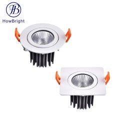 تصميم مرن تجاري ذو موضع لامع أبيض 7 واط 2*7 واط دائري مصباح LED منخفض مرّاحة LED