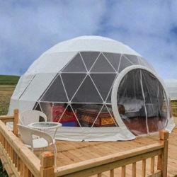 Outdoor Camping TPU Plastic Garden Igloo Geodätische Clear Dome Zelte