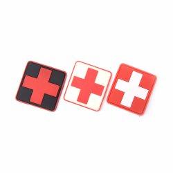 Bandera de la cruz de la moral de los suizos de caucho de PVC de 3D Medic paramédico insignia Ejército Parche Molle