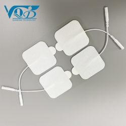 De opnieuw te gebruiken Draagbare Zelfklevende Witte Stootkussens van het Gel van de Elektrode van de Massage van de Eenheden EMS van de Tientallen van de Vervanging