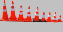 교통 안전 고무 콘 연약한 PVC 콘 소통량 콘 PVC 콘 고무 콘 도로 안전 콘 도로 Delineator 도로 방벽