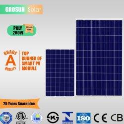 Китай производитель 60ячеек Polycrystalline 260 Вт (5BB) Grosun Солнечная панель