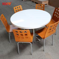 Moderner zusammengesetzter Harz-Tisch für Familien-runde Nahrungsmittelspeisetisch für Gaststätte