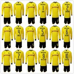 Borussia Dortmund 축구 저어지 2019 2020년 축구 장비 상단 셔츠