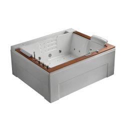 Vasca calda acrilica di Jaccuzzi della stanza da bagno domestica con il comitato di legno naturale