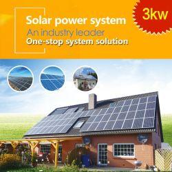 3kw sur le réseau d'accueil système d'Alimentation Solaire Système d'énergie solaire Longitech ménage l'énergie solaire
