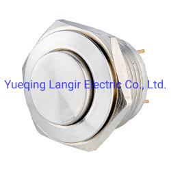 Водонепроницаемый чехол из нержавеющей стали Контакт кнопочный выключатель (V16-H-1-P-S)