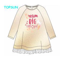 Enfants vêtements bébé fille robe d'automne Occasionnel 100% coton imprimé les petites filles Robe longue Robe de filles manchon