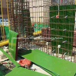 4X8安い緑PP PVCプラスチックフィルムは海兵隊員18mmの防水閉める合板の価格に直面した
