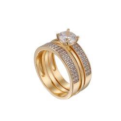 Nouveau design de gros 925 Silver Ring Set /bague de fiançailles en provenance de Chine Fabricant de bijoux en argent