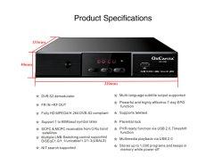 WiFiおよびYoutobe TVボックスが付いているDVB-S2デジタルのサテライトレシーバ