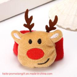 Hermoso espectáculo Pulsera de dibujos animados de Navidad Clap Círculo decoraciones de Navidad regalos Navidad niños Pulsera