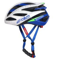 パソコンはバイクのための安全Blue&Whiteのヘルメットを形成する
