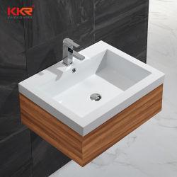 樹脂のマットのアクリルの石造りの表面の浴室の単一の流しの洗浄キャビネットの洗面器