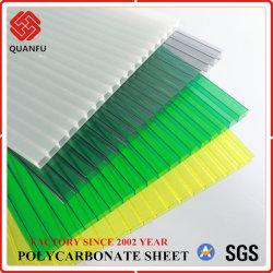 Protección UV de 6mm Twin-Wall policarbonato PC Hoja hueco para invernadero
