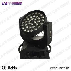 36PCS 10W Vierradantriebwagen-Farbe bewegliches Licht der Kopf-LED
