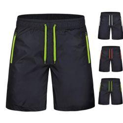 Mens étirement à 4 voies de la Formation personnalisée avec salle de Gym Sports bordée Shorts Shorts double couche