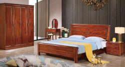 Muebles antiguos de madera de palisandro sólido conjunto de muebles de dormitorio cama