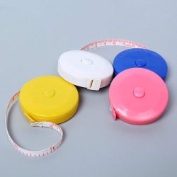 Förderung ABS Retractable Keychains Measuring Tape Mini Key /1 Meter 1.5m Mini Tape Measure/Gift Measuring Tape