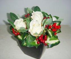 Flores artificiales Plantas artificiales adornos de Navidad Decoración de oficina El Hotel Restaurante decoración de la mesa