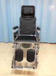 Foldableクロム鋼の横たわる高いあと振れ止めの整理ダンスの車椅子