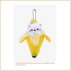 Super Cute банан несут шикарные обладателя ключа Wolesale аксессуары