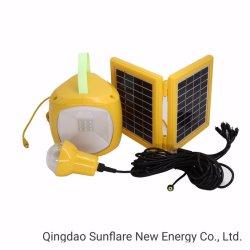 Qingdao Sunflare Alimentação Luz Solar Solar Luz de LED de energia solar lanterna LED Sf-208 com 1PC lâmpada LED/USB e o adaptador AC para o mercado da Etiópia
