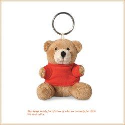 Мишка брелок с логотипом Мягкие плюшевые игрушки кукла