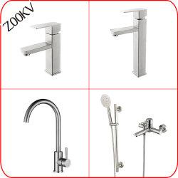 304 Fios de aço inoxidável de banho de água da bacia de cozinha / chuveiro de mão Misturador do dissipador de calor