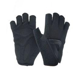 Halbe Sport-Fahrrad-Fahrrad-Leder-Kurzschluss-Finger-Handschuh-Breathable BaumwolleLycra komprimierende Handschuhe