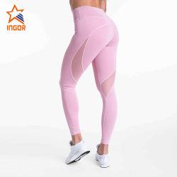 Normallack-schöne Hip Eignung keucht rosafarbenes kundenspezifischen Ineinander greifen-die reizvollen Yoga-Gamaschen