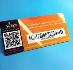 De aangepaste afdrukkende Plastic kaart van de streepjescodeRFID markering keychain voor loyaliteitsbeheer