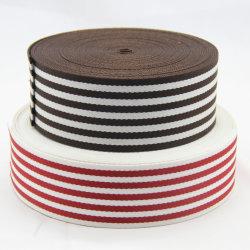 Roter /White-Jacquardwebstuhl gesponnenes gewebtes Material/Brücke/Band des Abnehmer-Polyester-Streifens