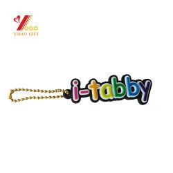 Оптовая торговля пользовательский Дизайн рекламы 3D 2D логотип мягкого силиконового каучука с логотипом кремния из ПВХ пластика обладателя ключа Keyring цепочки ключей для подарков сувениров (YB-PK-6)
