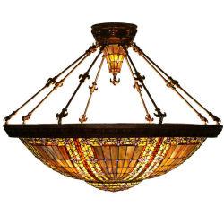 كبيرة [تيفّني] سقف مصباح [ستين غلسّ] مدلّاة ضوء لأنّ فندق ردهة