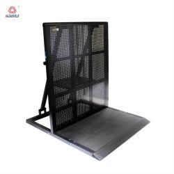 Barrière de sécurité des foules en aluminium pour le Sport Un terrain de jeux personnalisés foule de métal