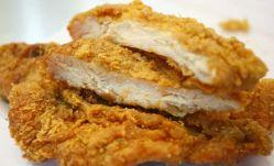 Pre- 튀겨진 닭 얇게 저민 고기에 의하여 튀겨지는 닭