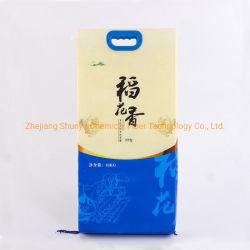 10kg Reisverpackung Industrieverpackung Beutel mit Kunststoffgriff