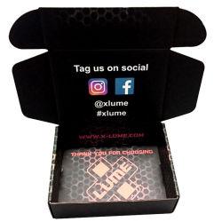 Commerce de gros personnalisé de Luxe nous vous remercions Boîte en carton ondulé Paper Box