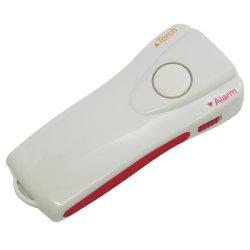 2 en 1 130dB alarme personnelle avec la lampe torche 3 LED super lumineux lumière