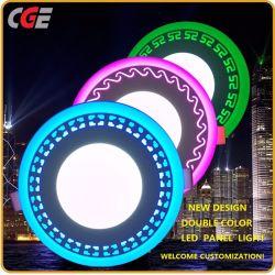 Светодиодные лампы панели 3+3W/6+3W/12+6+6W/18 Вт утопленную квадратных или круглых двойной цвет потолочного освещения светодиодный индикатор круглый светодиодный индикатор на панели потолка