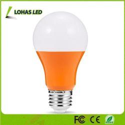 E26 5W A19 Ampoule LED de couleur orange pour la décoration des arbres de Noël