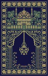 고전적인 터키 100% PP 프리어 이슬람 마수드 롤 플로어 카펫 모스크