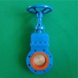 수륜이 있는 슬루스 밸브 보닛 나이프 게이트 밸브