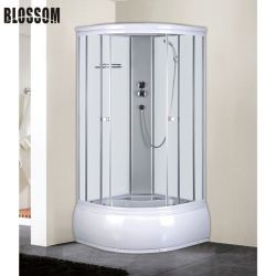 シャワーのドアを滑らせる明確な緩和されたガラスの蒸気部屋の小屋の浴室