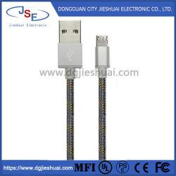 Mikro-USB-Kabel-umsponnener schneller schneller Aufladeeinheits-Kabel NYLONUSB zu Mikro-aufladennetzkabel USB-2.0 für Handy