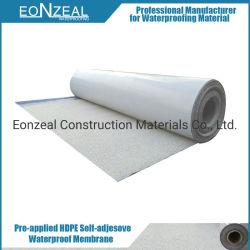 Высокая Pre-Applied полимерные HDPE Самоклеющиеся водонепроницаемый материал